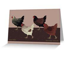 Hens Walk Greeting Card