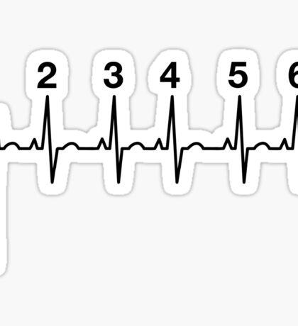 Motorcycle Heartbeat Gears Sticker