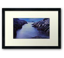 Rocky inlet at Eyemouth Framed Print