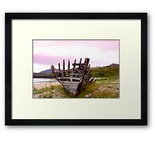 Tarmine Boat Wreck Framed Print