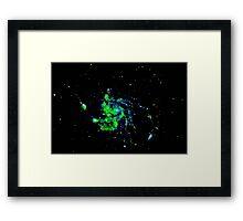 Pixel Galaxy Framed Print