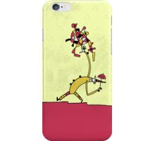 red yellow clown iPhone Case/Skin