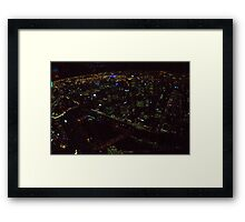 Melbourne in a bubble Framed Print