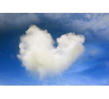 a natural heart shaped cloud Photographic Print