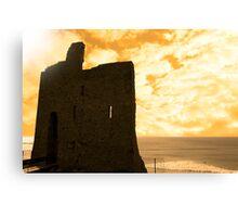 ballybunion castle at sunset Canvas Print