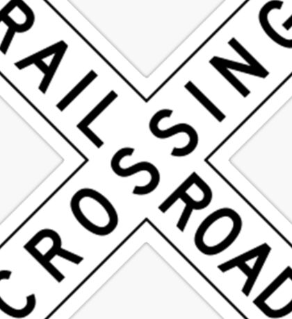 Rail road crossing Sticker