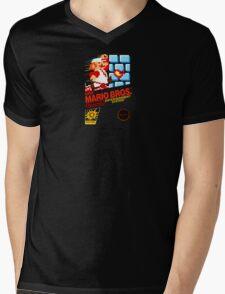 Super Mario Bros box Mens V-Neck T-Shirt