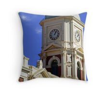 Boulder Clock Tower Throw Pillow