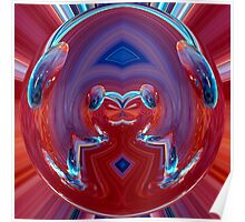 contemporary techno art 1010 Poster