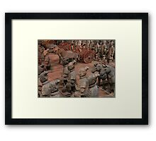 TERRACOTTA WARRIORS EPCOT CHINA PAVILION WALT DISNEY WORLD ORLANDO FLORIDA JULY 2013 Framed Print