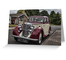 MG Y-type Saloon Greeting Card