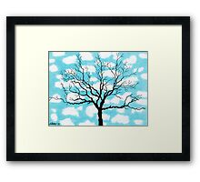 TREE IN THE CLOUDS Framed Print
