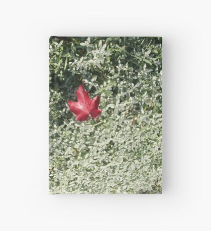 Red on Green in Fall Hardcover Journal