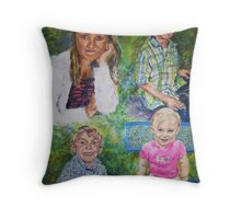 Rick's Grandchildren Throw Pillow