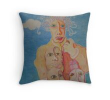 Wolfgang Amadeus Mushroom Throw Pillow