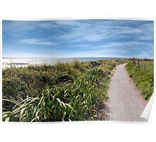 coastal gravel cliff path Poster