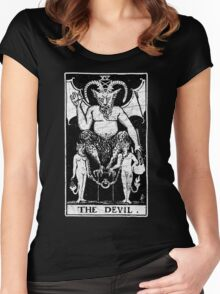The Devil Tarot Card - Major Arcana - fortune telling - occult Women's Fitted Scoop T-Shirt
