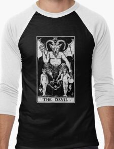 The Devil Tarot Card - Major Arcana - fortune telling - occult Men's Baseball ¾ T-Shirt