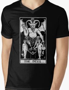 The Devil Tarot Card - Major Arcana - fortune telling - occult Mens V-Neck T-Shirt