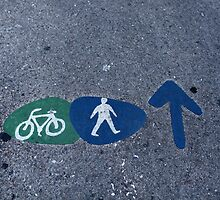 Walk and bike path Sign by mrivserg