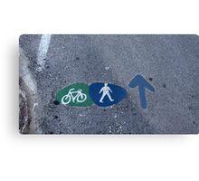 Walk and bike path Sign Metal Print