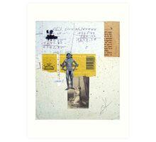 MIDIENDO A TU PROPIO DIOS DORADO (measuring your own golden god) Art Print