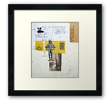 MIDIENDO A TU PROPIO DIOS DORADO (measuring your own golden god) Framed Print