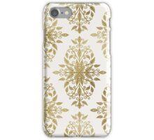 Gold Foil Floral Damask Pattern iPhone Case/Skin
