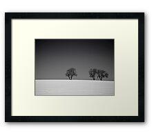 Winter Tree Skyline 2 Framed Print