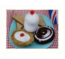 Woollen cakes!! Art Print