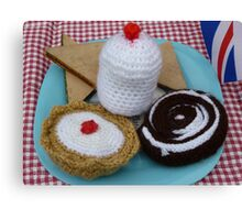 Woollen cakes!! Canvas Print