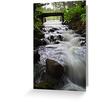 Water Over the Spillway Greeting Card
