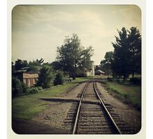 Westbound Through A Small Town Photographic Print