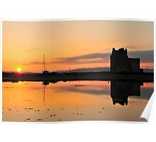 Lochranza Castle Sunset Poster