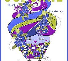 CUPCAKE : Kiwi Blueberry by katreece