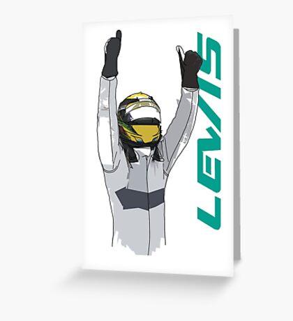 Lewis Hamilton Greeting Card