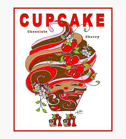CUPCAKE : Chocolate Cherry Photographic Print