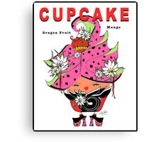 CUPCAKE : Dragon Fruit Mango Canvas Print