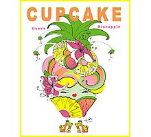 CUPCAKE : Pineapple Guava Photographic Print
