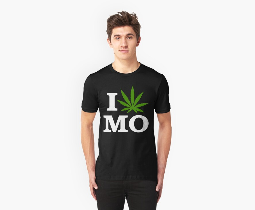 I Love Missouri Marijuana Cannabis Weed T-Shirt                                          by MarijuanaTshirt