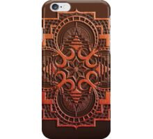 omjárah mandala woodcut iPhone Case/Skin