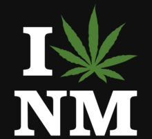 I Love New Mexico Marijuana Cannabis Weed T-Shirt by MarijuanaTshirt