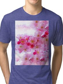 Cherry Blossoms So Pink Tri-blend T-Shirt