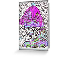 Tribal  Man Portrait  Greeting Card