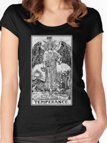 Temperance Tarot Card - Major Arcana - fortune telling - occult Women's Fitted Scoop T-Shirt