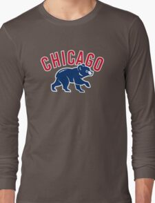 Chicago cubs bear sport Long Sleeve T-Shirt