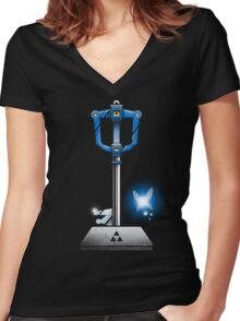 MASTER KEYBLADE Women's Fitted V-Neck T-Shirt