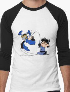 Batman Charlie Brown & Batgirl Lucy Men's Baseball ¾ T-Shirt