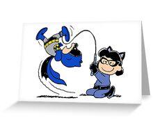 Batman Charlie Brown & Batgirl Lucy Greeting Card