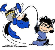 Batman Charlie Brown & Batgirl Lucy Photographic Print